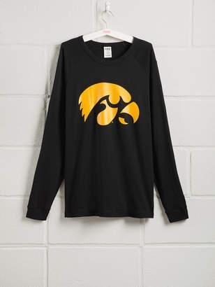 PINK University of Iowa Long Sleeve Grommet Campus Tee