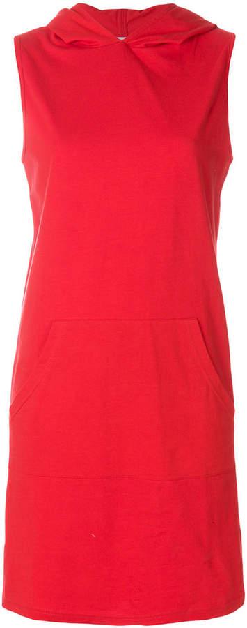 hooded sleeveless dress