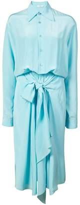 Tome flared midi shirt dress