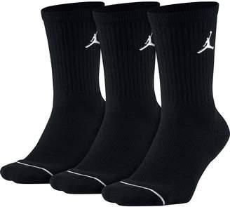 3257cab3924a Jordan Nike Crew Sock 3 Pack 013BLACK S