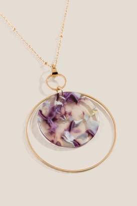francesca's Olivia Multi-Circle Pendant Necklace - Purple