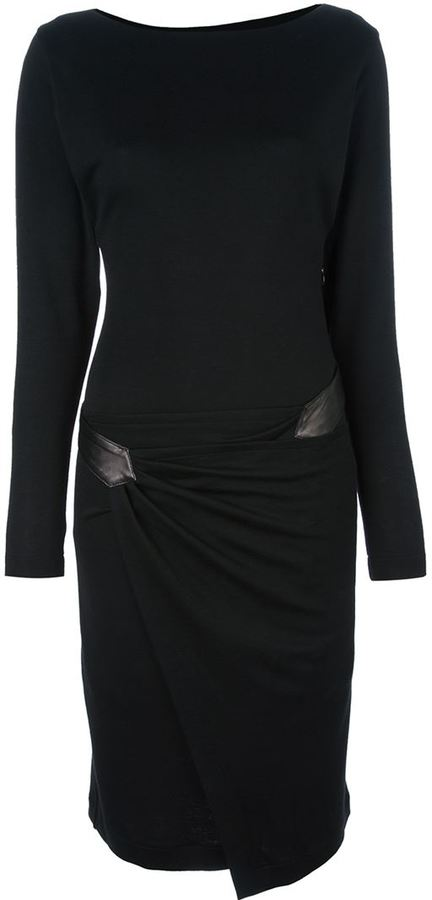 Vionnet belted fitted dress