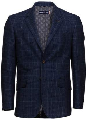Men's Raging Bull Big and Tall Tweed Overcheck Blazer