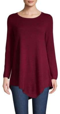 Joie Tambrel Wool & Cashmere Asymmetrical-Hem Sweater