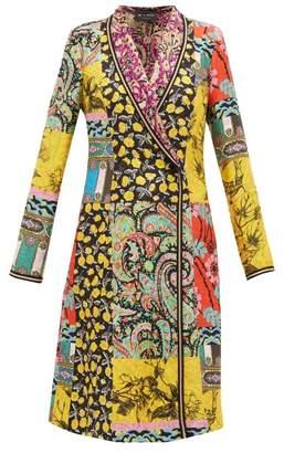 Etro Cheshire Floral Print Silk Coat - Womens - Yellow Multi