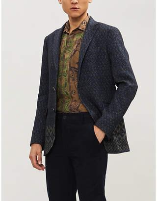 Etro Linen-cashmere blend jacquard blazer