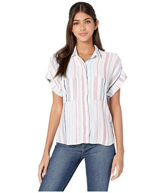 Bella Dahl Florence Stripe Cap Sleeve Button-Down Top