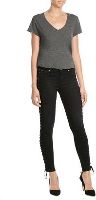 True Religion Skinny Jeans with Lace-Up Sides $309 thestylecure.com