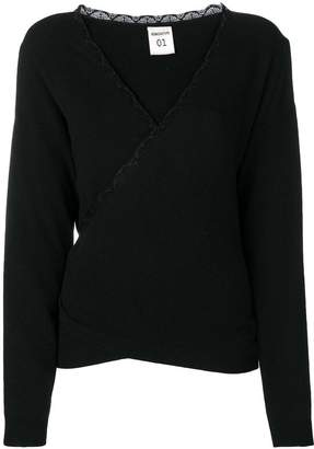 Semi-Couture Semicouture wrap-around knitted top