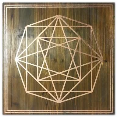 Wayfair 'Geometric Octagon' Graphic Art on Wood