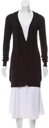 Burberry Silk Longline Cardigan