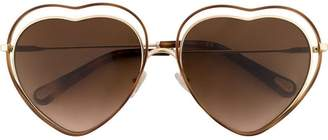 Chloé Eyewear gradient heart sunglasses