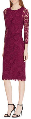 Lauren Ralph Lauren Slim-Fit Lace Midi Dress