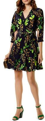 Karen Millen Botanical Silk Wrap Dress