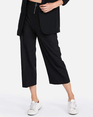 Express Super High Waisted Wide Leg Cropped Pant