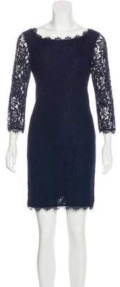 Diane von Furstenberg Lace-Accented Mini Dress