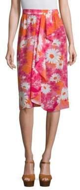Michael Kors Collection Floral Printed Skirt