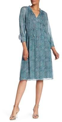 Rebecca Taylor Minnie Floral Chiffon Silk Blend Dress
