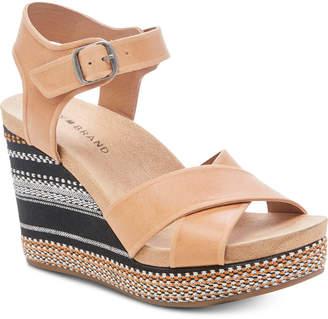 Lucky Brand Women Yarosan Wedge Sandals Women Shoes