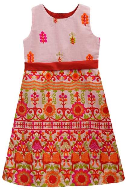 Exotic Garden Play Scarlet Grace Fit & Flare Dress - Girls