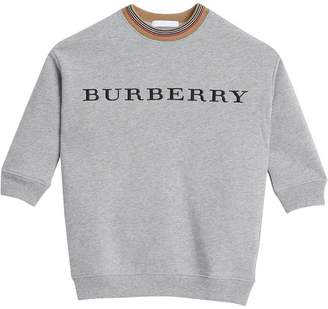 Burberry Embroidered Logo Cotton Dress