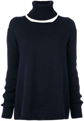 Societe Anonyme detachable roll-neck jumper