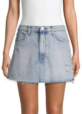 c83515d165 Distressed Long Denim Skirt - ShopStyle