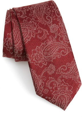 Calibrate Dunsford Paisley Silk Blend Tie