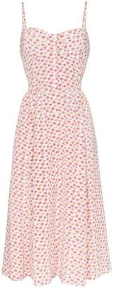 Maryam Nassir Zadeh silk lip print bustier midi dress