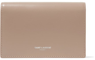 Saint Laurent - Leather Wallet - Sand $450 thestylecure.com