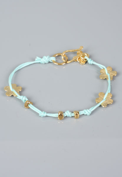 Flower Bracelet in Gold/Turquoise