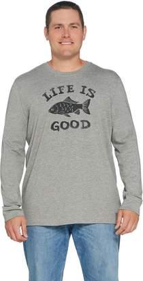 Life is Good Men's Crusher Long Sleeve Fish Tee