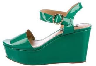 Dolce & Gabbana Patent Flatform Sandals