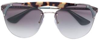 Prada oversized metal sunglasses