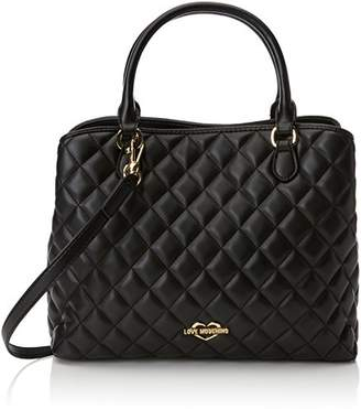 Love Moschino Borsa Quilted Nappa Pu Nero, Women's Shoulder Bag,11x27x32 cm (B x H T)