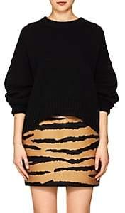 Proenza Schouler Women's Button-Sleeve Wool-Cashmere Sweater - Black