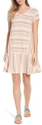 Caslon Linen Blend Stripe Dress