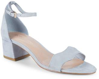 BCBGeneration Women's Farlyn Microsuede Block Heel Sandals