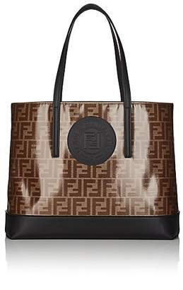 Fendi Women's Coated Canvas & Leather Tote Bag - Black