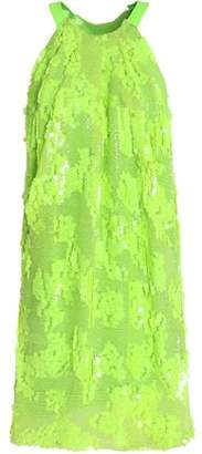 Mikael Aghal Sequined Tulle Mini Dress