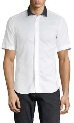 Valentino Short-Sleeve Button-Down Shirt