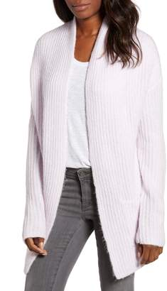 Caslon Fluffy Ribbed Long Sleeve Cardigan