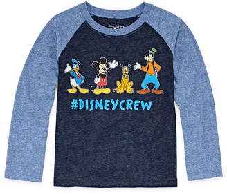 DISNEY MICKEY MOUSE Disney Graphic Long Sleeve T-Shirt-Toddler Boys