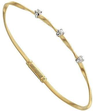 Marco Bicego Marrakech 18K Yellow Gold Twisted Bracelet with Diamonds $2,290 thestylecure.com