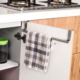 Mosunx Over Door Towel Rack Bar Hanging Holder Bathroom Kitchen Cabinet Shelf Rack