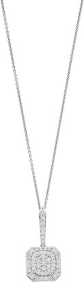 Vera Wang Simply Vera Sterling Silver 1/2 Carat T.W. Diamond Octagon Pendant Necklace