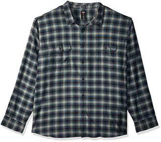 Dickies Men's Long Sleeve Relaxed fit Flannel Shirt Big-Tall