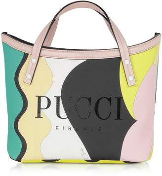 Emilio Pucci Two Tone Coated Canvas Tote Bag