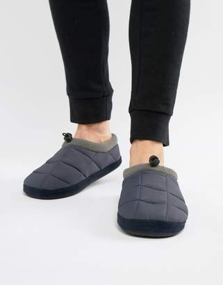 Dunlop Quilted Fleece Lined Slip On Slipper