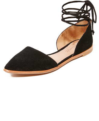 Madewell Arielle d'Orsay Flats $98 thestylecure.com